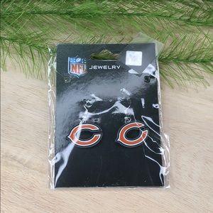 NWT! Chicago bears dangle earrings NFL logo